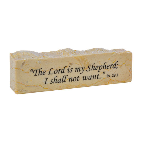 """""""The Lord is My Shepherd"""" Psalm 23:1 Promise Stone"""