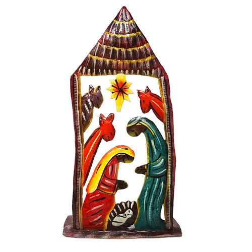 """Tall Standing Nativity 11"""" - Haiti"""