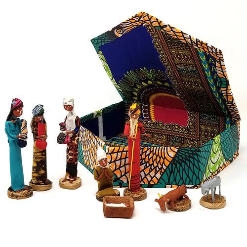 Fabric Nativity - Uganda
