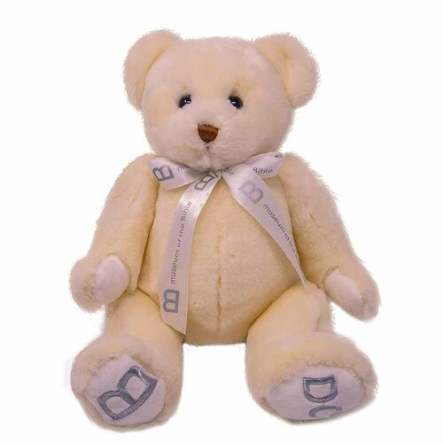 "MOTB 10"" White Bear with Ribbon"
