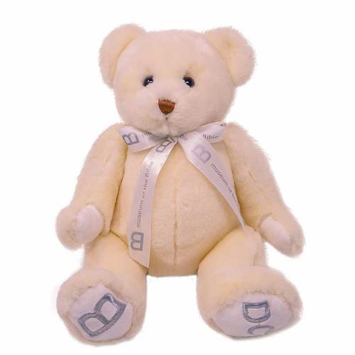 "MOTB 10"" White Bear with Ribbon"