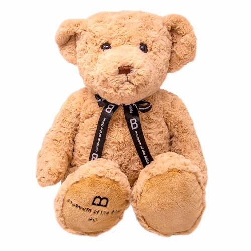 "MOTB 14"" Tan Bear with Ribbon"