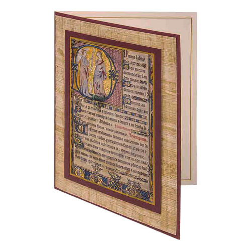 Book of Hours Notecard (Blank Inside)