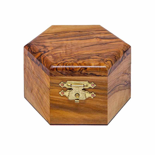 Polygon Olive Wood Box