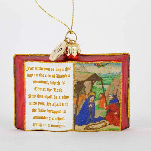 MOTB Holy Bible Glass Ornament