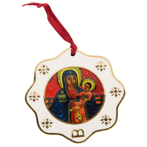 MOTB Ethiopic Art Porcelain Ornament