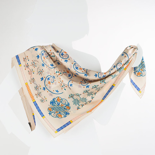 100% Silk Book of Hours Scarf