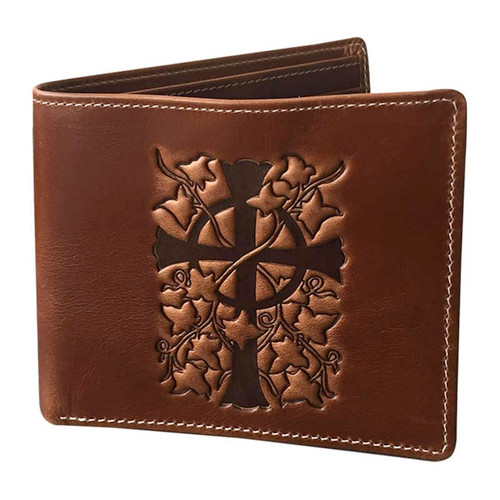"Men's Leather Wallet ""The Litany"""