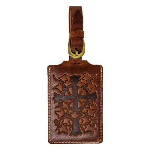 Napa Hide Leather Luggage Tag