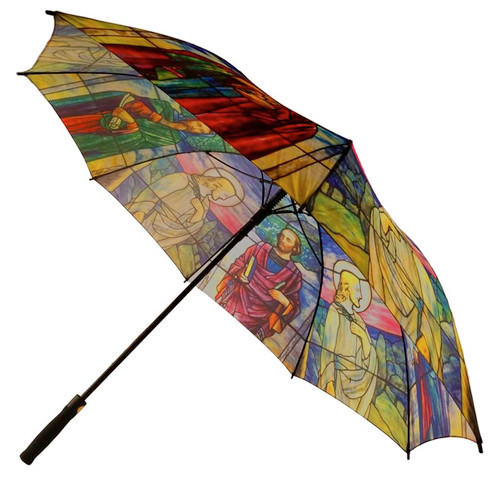 Jesus And The Four Gospels Tiffany Umbrella