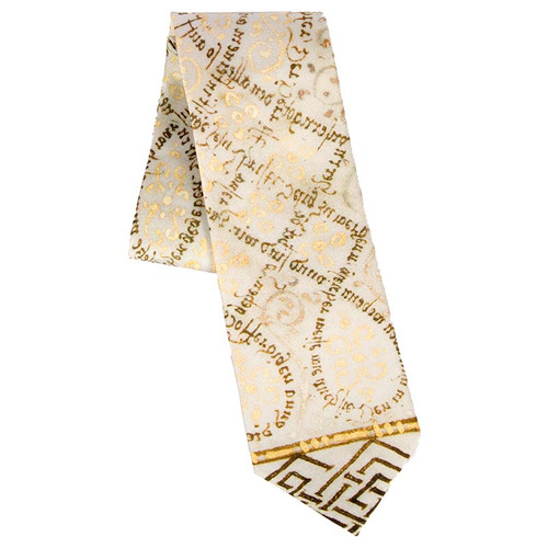 Psalter Calligraphy Neck Tie