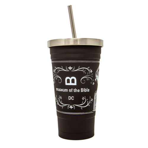 Chalkboard Tumbler With Straw