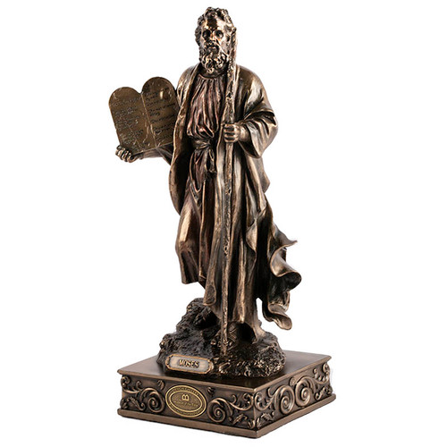 Moses Holding the Ten Commandments Figurine