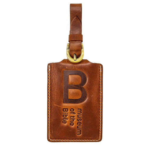 Napa Hide Rich Brown Leather Luggage Tag