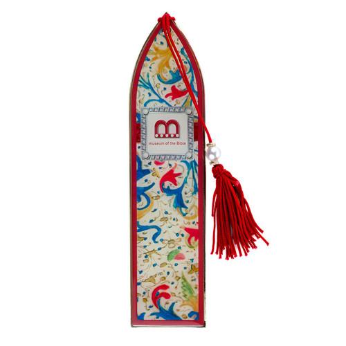Floral Monogram Metal Bookmark