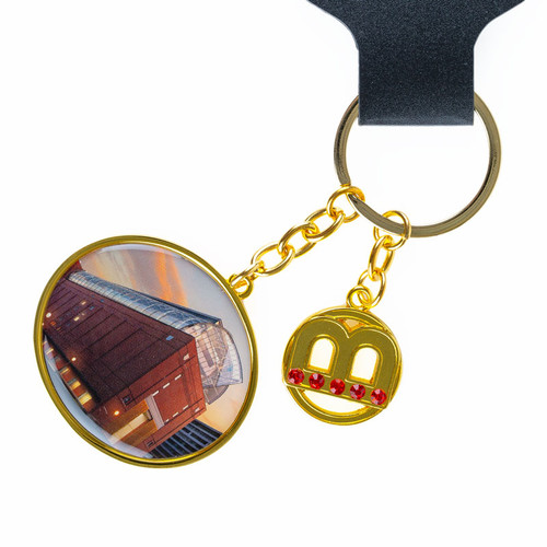 Building Key Ring with Charm