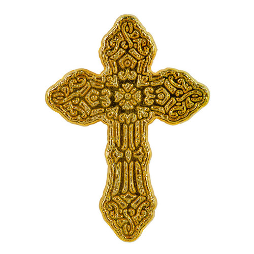Crackle Finish Cross Pin