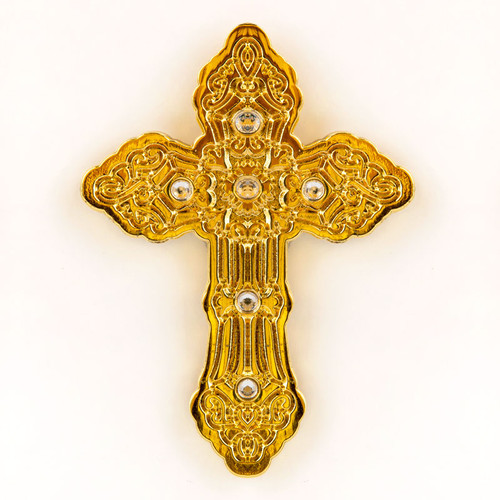 Gold Cross with Stones Pin | Museum of the Bible