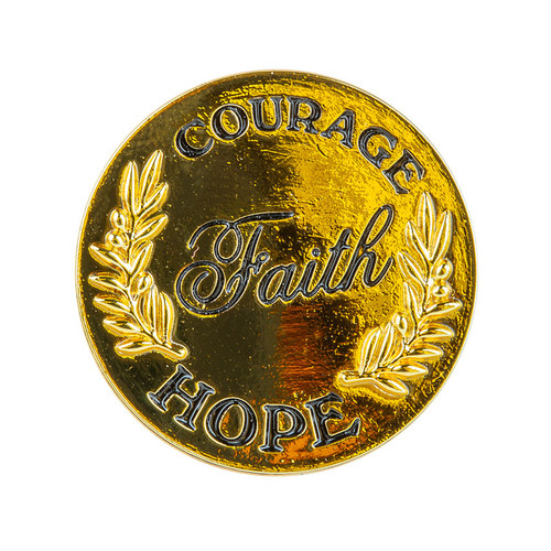 Courage Faith and Hope Message Pin