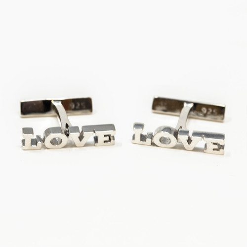 Love Cuff Links In Silver  | Museum of the Bible
