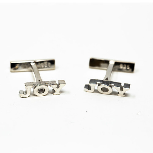 Joy Cuff Links In Silver | Museum of the Bible