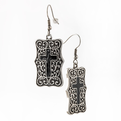 Be Still Cross Earrings | Museum of the Bible
