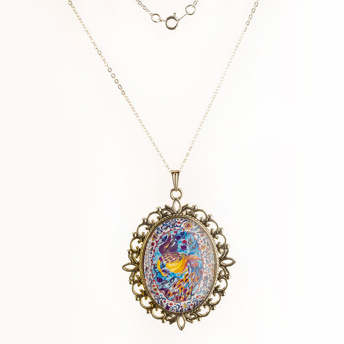 Esther Scroll Peacock Necklace | Museum of the Bible