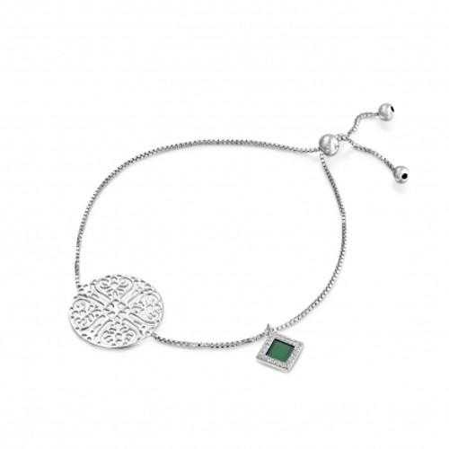 Silver Lace Bible Nano-Chip Bracelet