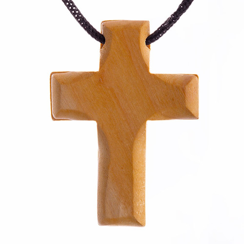 Olive Wood Solid Cross Charm | Museum of the Bible