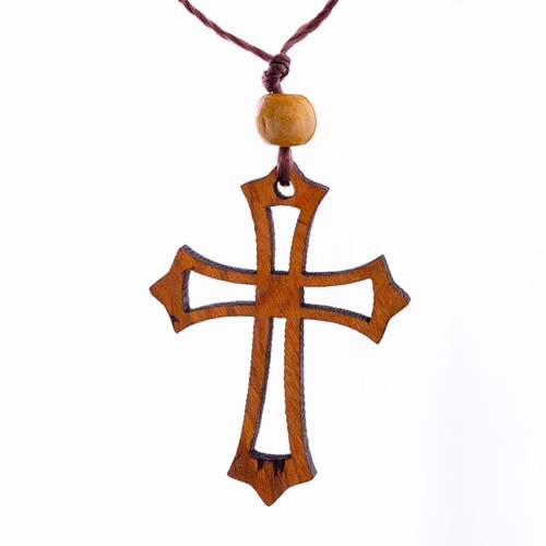 Olive Wood Cross Charm   Museum of the Bible