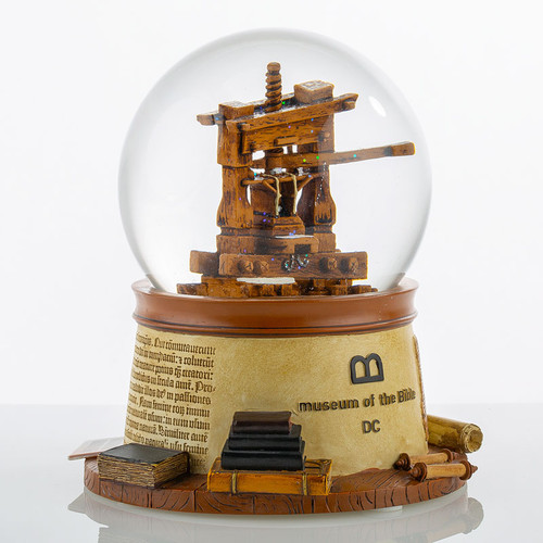 MOTB Artifact Line Snow Globe | Museum of the Bible