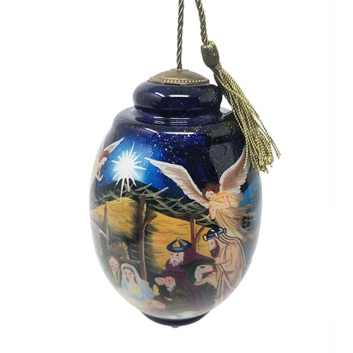 Nativity Scene Hand Painted Ornament | Museum of the Bible