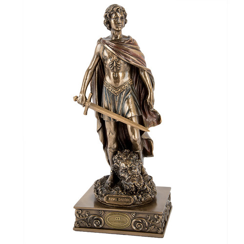 David Slaying Goliath Figurine