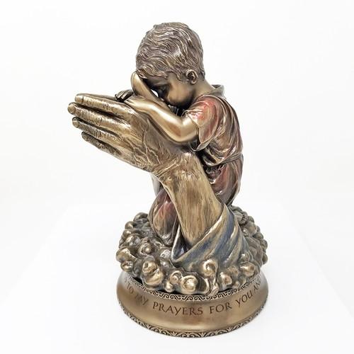 Child in Praying Hands Figurine