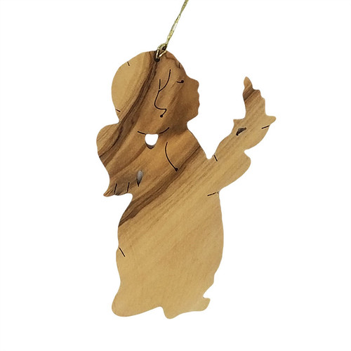 Olive Wood Angel Ornament | Museum of the Bible