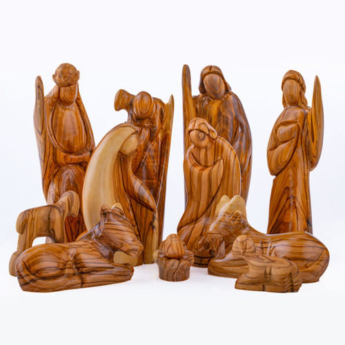 12 Piece Olive Wood Nativity Set | Museum of the Bible