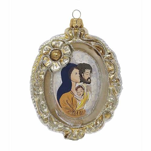 Medallion Holy Family Ornament