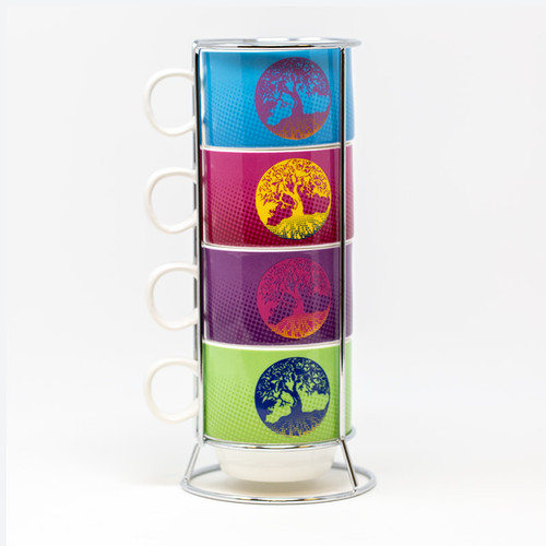 Tree of Life 4-Piece Coffee Cup Set | Museum of the Bible