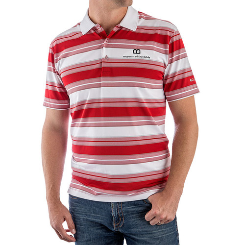 Red Striped Omni-Wick Polo