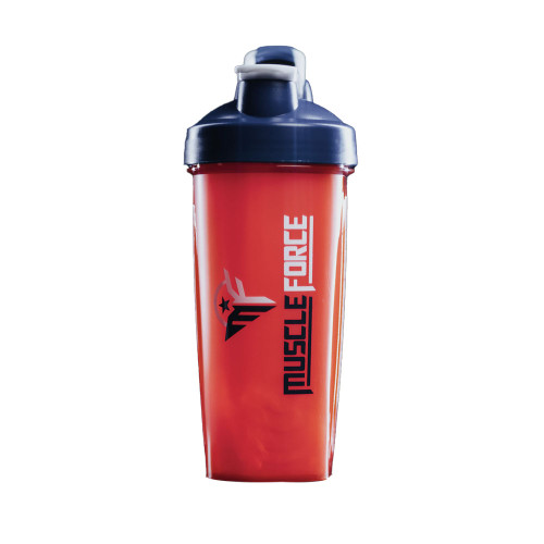 MuscleForce Red & Blue Shaker Bottle