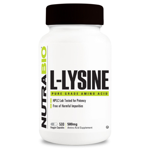 Nutrabio Labs L-Lysine (500mg)