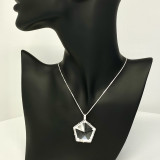 Star of Light with Natural Brazilian Quartz set in Sterling Silver