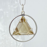 Vogel Star of David with Zambian Citrine Set in a Circle of Silver, small