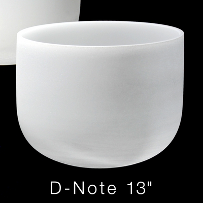 """Premium Frosted Crystal Singing Bowl 432 Hz 13"""" D-Note"""