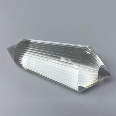 Clear Quartz Wand Generator with 48 Facets, 289g