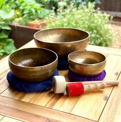 """Plenary Ascension"" Himalayan Singing Bowl Set"