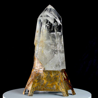 "Quartz Crystal Art Sculpture ""From Russia With Love"" by Lawrence Stoller"