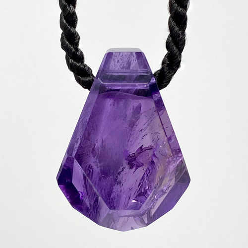 Natural Amethyst Pendant by Lawrence Stoller