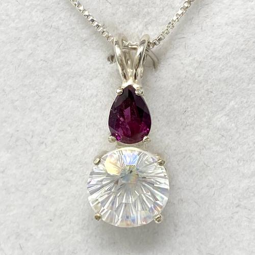 Angel Aura Super Nova with Pear Cut Rhodolite Garnet