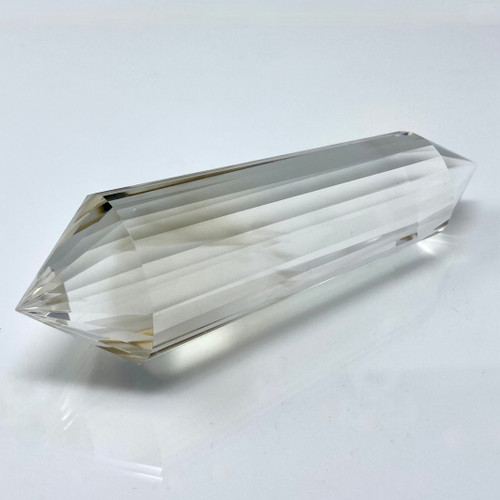 Natural Clear Quartz Wand Generator with Smoky Veil,